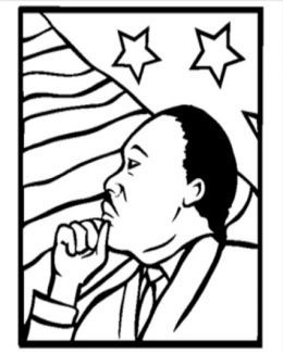 Martin Luther King Jr Kids Coloring Pages Free Colouring Pictures