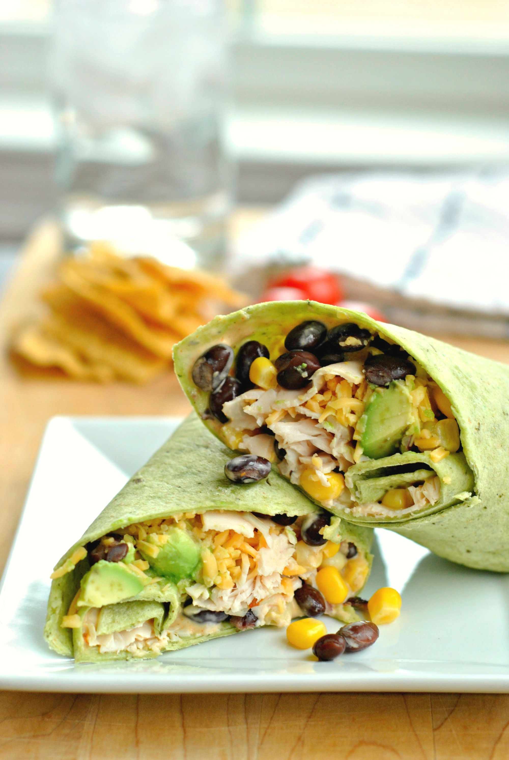 Planning lunch is hard. This Southwest Turkey Wrap makes it easy! Skinny, fast, and full of great southwest flavor!