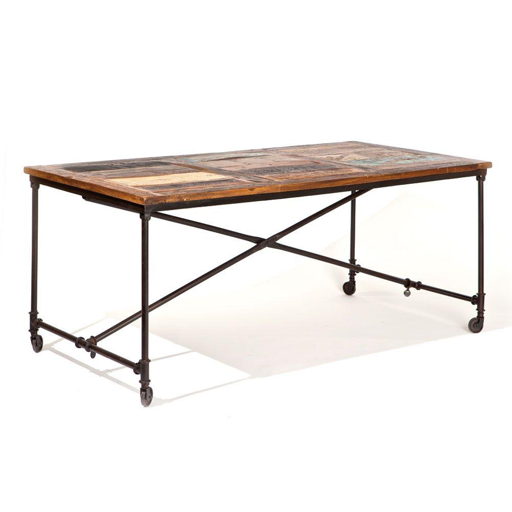Ungewöhnlicher Esstisch mit Rollen Vintage Design Jetzt bestellen ...