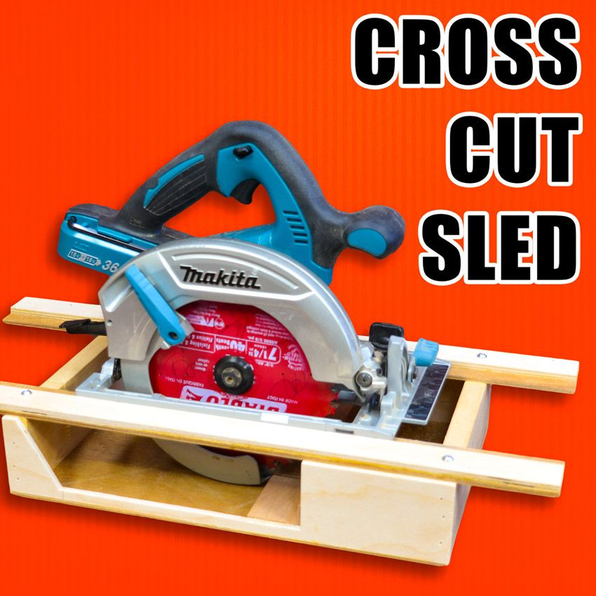 Portable Crosscut Sled For Circular Saws Woodworking Circular Saw Jig Circular Saw