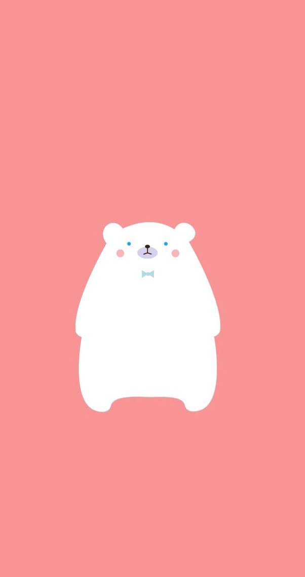Ice Bear Find More Minimalistic Iphone Android Wallpapers At