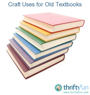 This guide is about craft uses for old textbooks. Outdated textbooks can be used for craft projects.