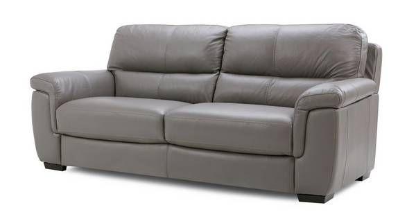 Leather sofa Dfs