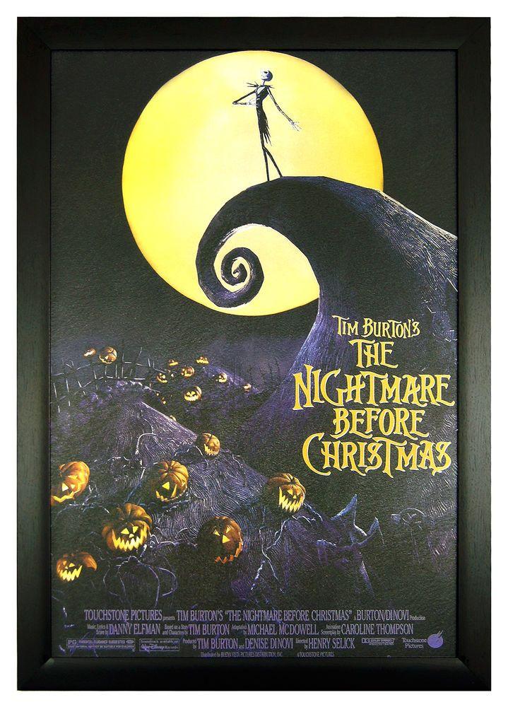 """The Nightmare Before Christmas 24""""x36"""" Framed Poster (C2-1017) #FramedGoods #ArtDeco"""
