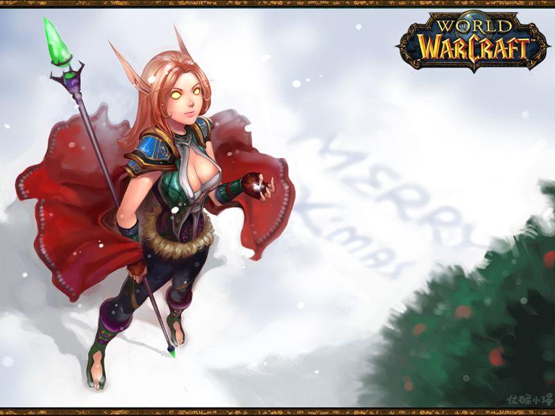 merry christmas blood elf wood elf warcraft 3 world of warcraft night elf - World Of Warcraft Christmas