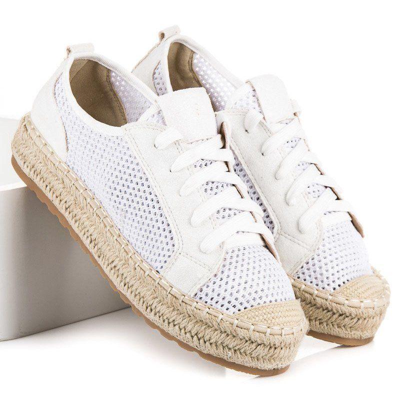 Seastar Azurowe Espadryle Na Wiazanie Biale Platform Sneakers Sneakers Shoes