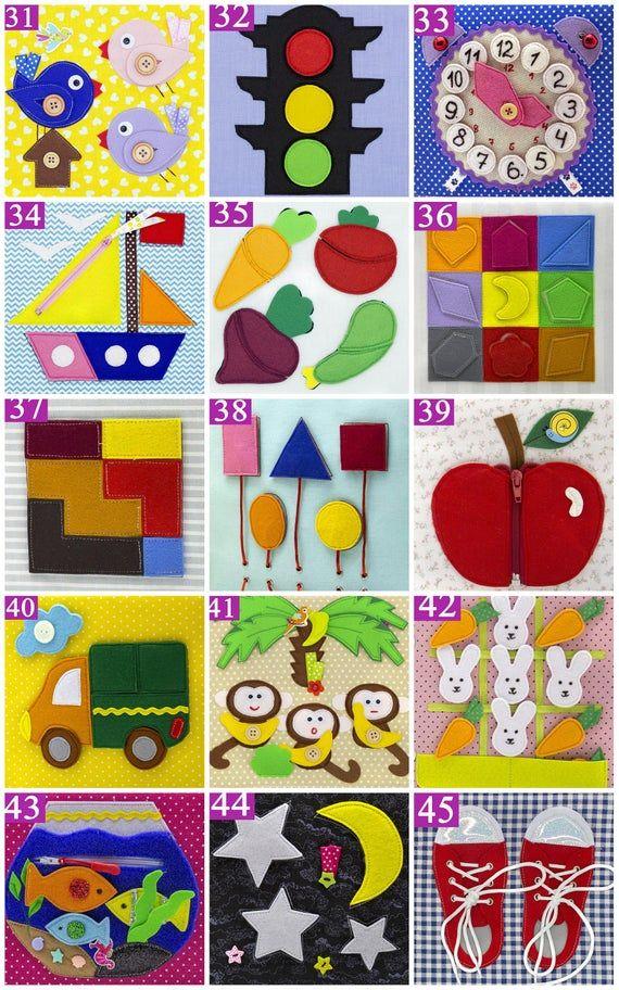 Photo of Caja de libro silenciosa de regalo de cumpleaños para niños pequeños Espacio para niño o niña, juego de 14 a 24 tableros textiles para desarrollar habilidades motoras finas, juguete para bebé Montessori
