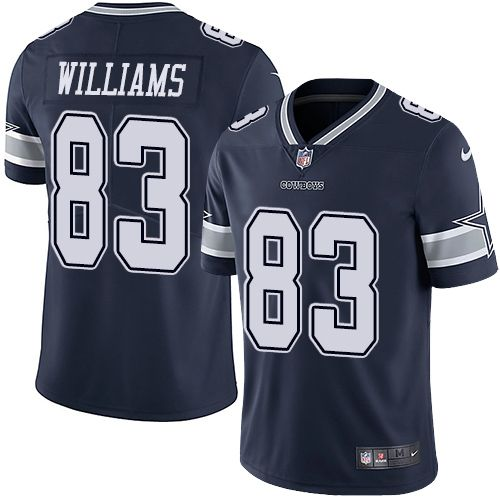 Discount Nike Cowboys #83 Terrance Williams Navy Blue Team Color Men's  for cheap