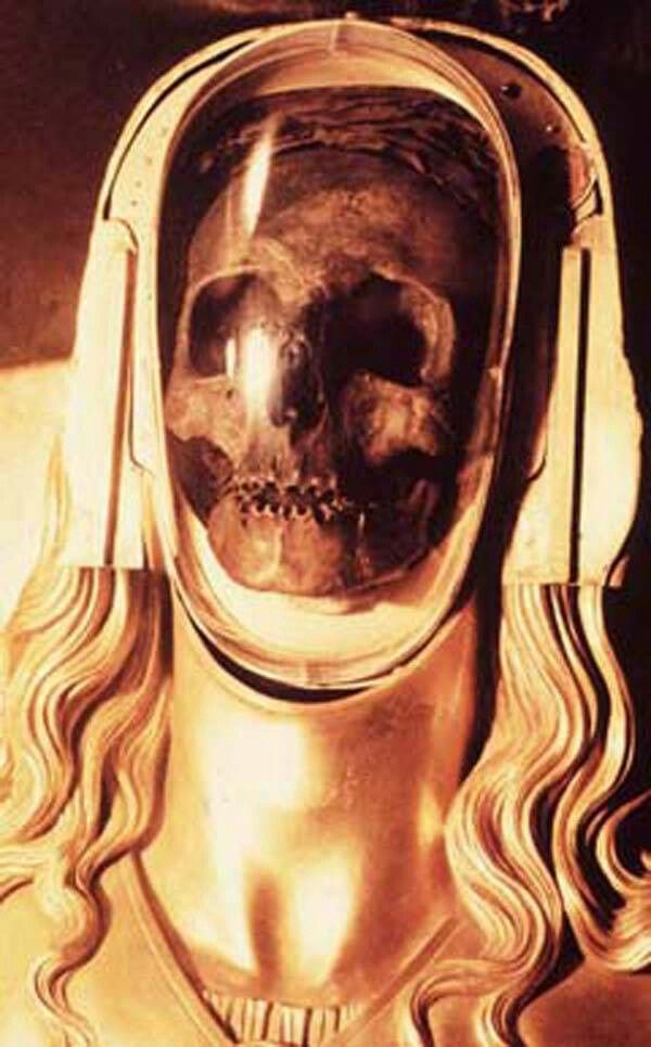 Mary Magdalene as she appears in the basilica crypt of St. Maximinin la Saint Baume