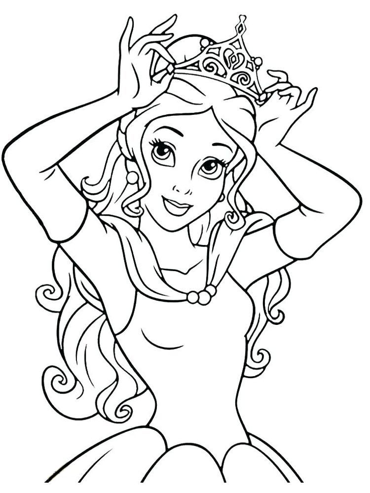 Printable Coloring Pages Of Princesses Below Is A Collection Of Beautiful Princess In 2020 Disney Princess Coloring Pages Princess Coloring Pages Belle Coloring Pages