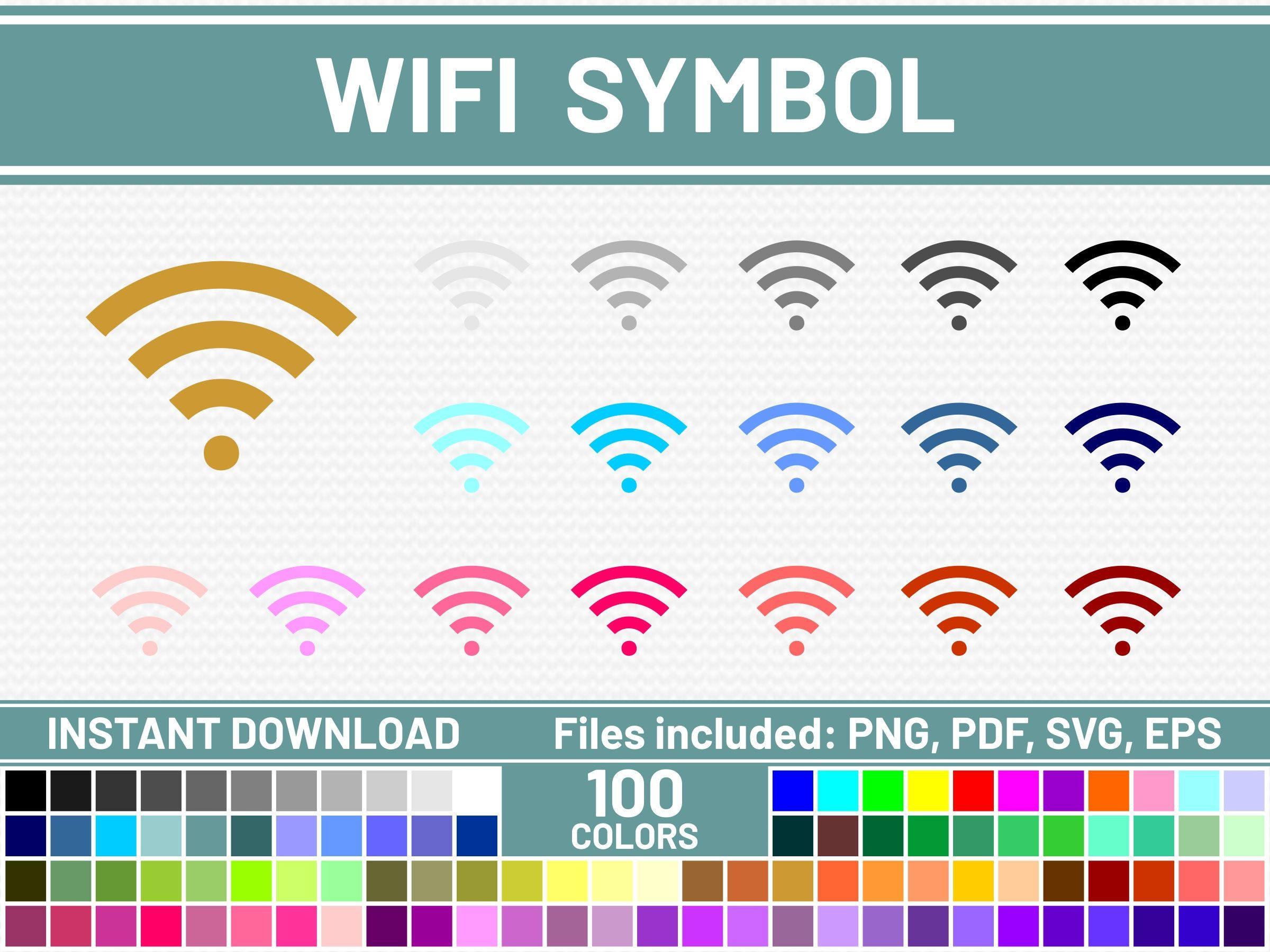 100 Wifi SVG File Commercial Use SVG Icon SVG Bundle Wifi