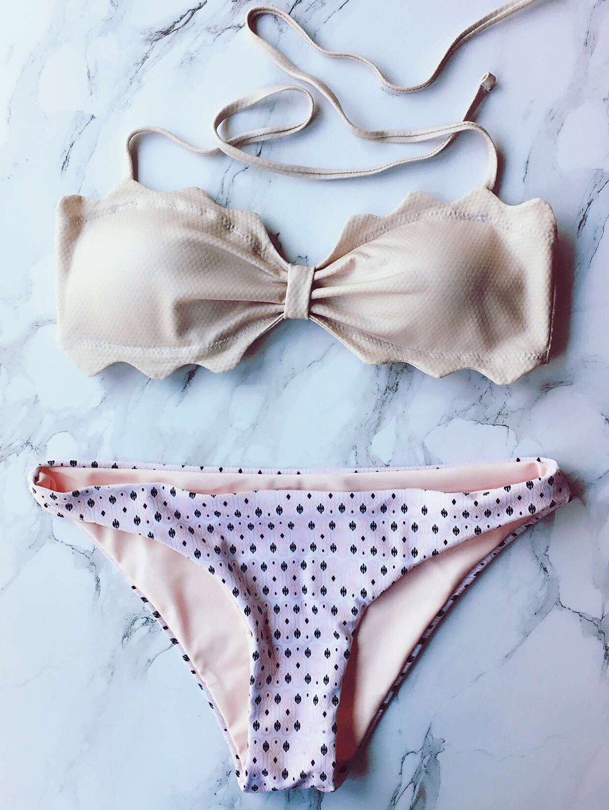 7c4cd8659cd Halter Bandeau Polka Dot Bikini Set | Modern, Chic, and Edgy ...