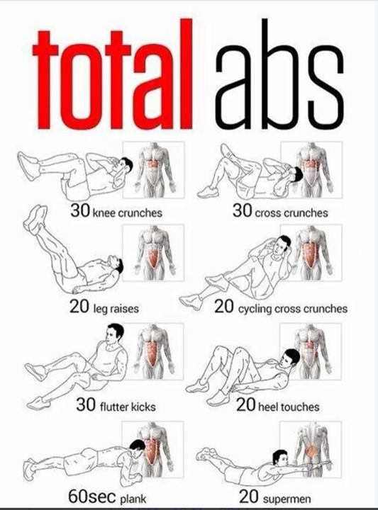 Try to do this core workout in three sets. Its a great way to work the mid section from every angle and get that coveted washboard stomach.