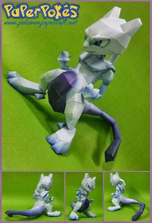 150 / Mewtwo - Pokémon Papercraft