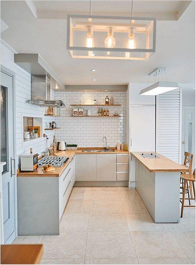 40 Minimalist Kitchen Design For Modern House Design 6 Kp Design Kitchen Decor Apartment Kitchen Design Small Minimalist Kitchen Design