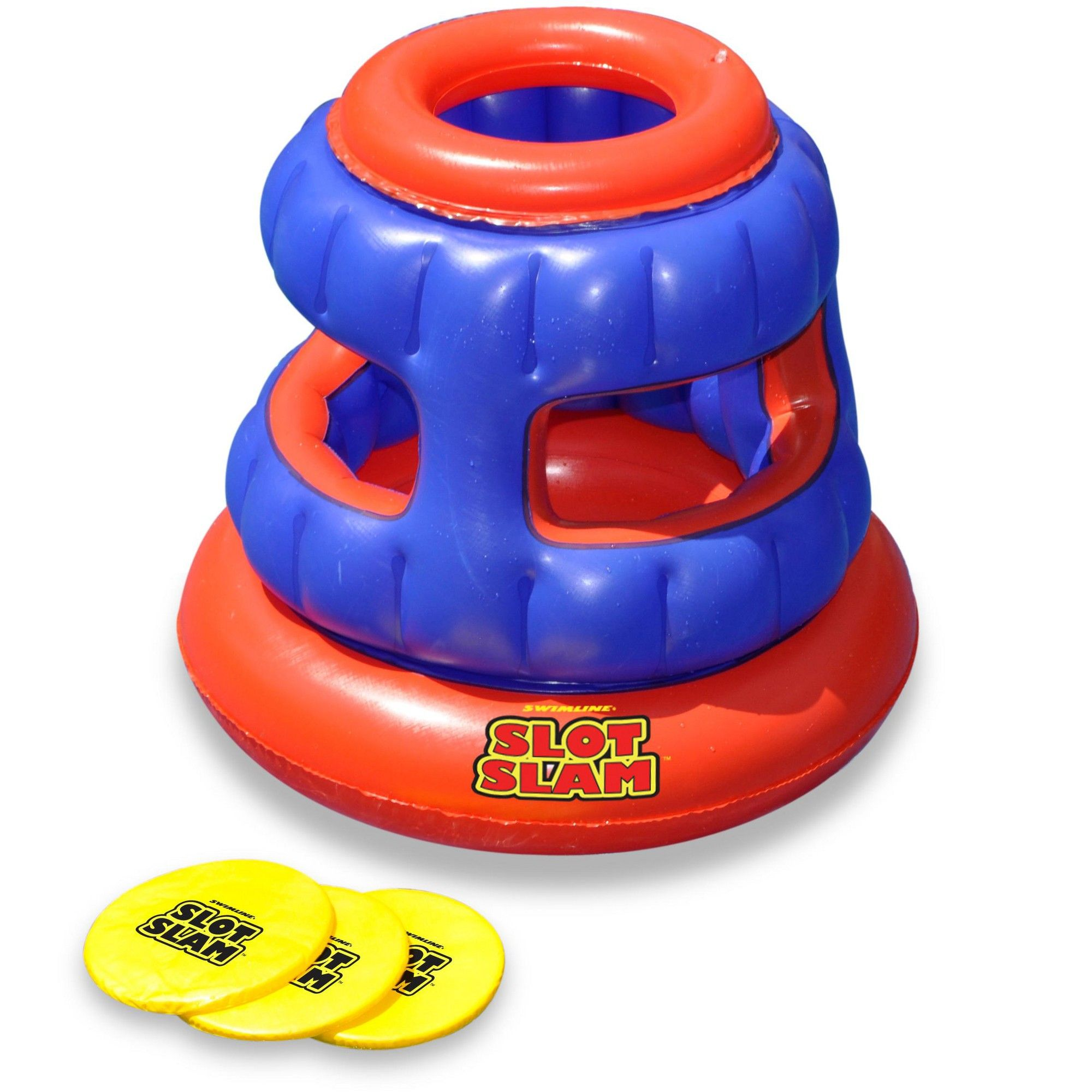 Swimline 90286 Slot Slam Disc Toss Inflatable Floating Swimming Pool Fun