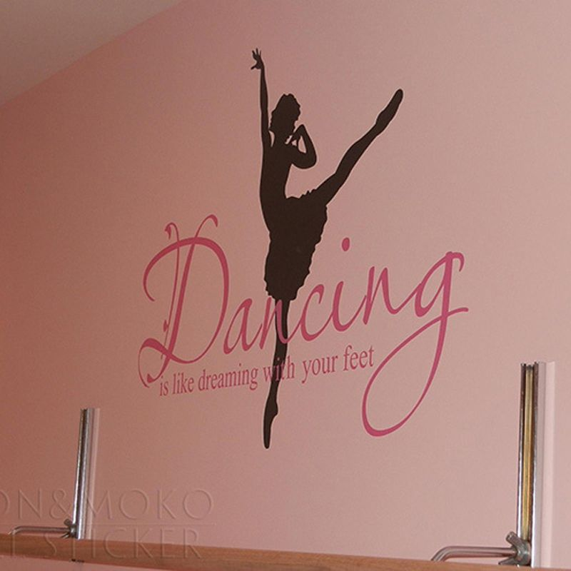 Quotes Ballet Ballerina Wall Sticker Dance Dreaming Feet Vinyl - Custom vinyl wall decals dance