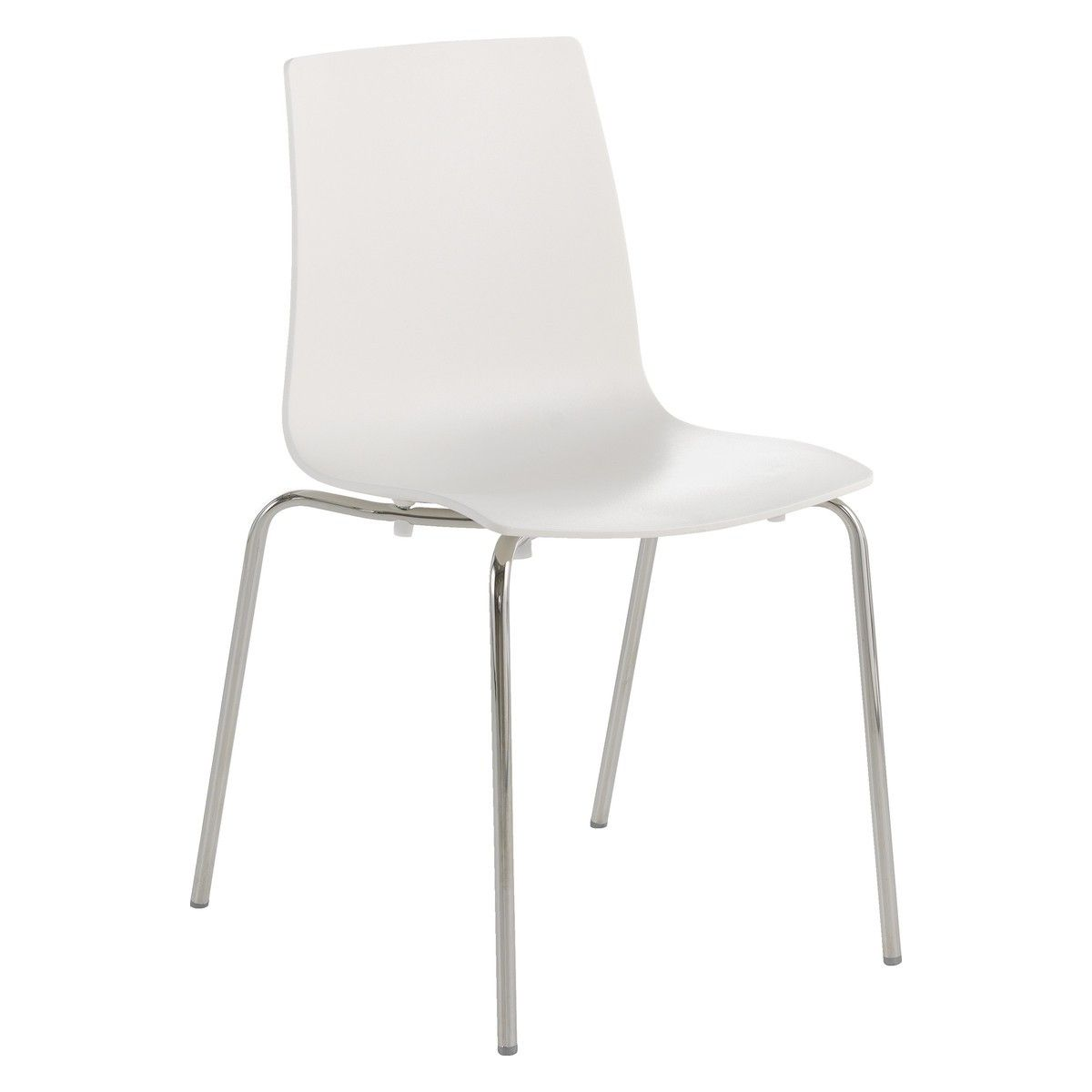new product 25c0d 2de11 BENJI White stackable dining chair | Buy now at Habitat UK ...