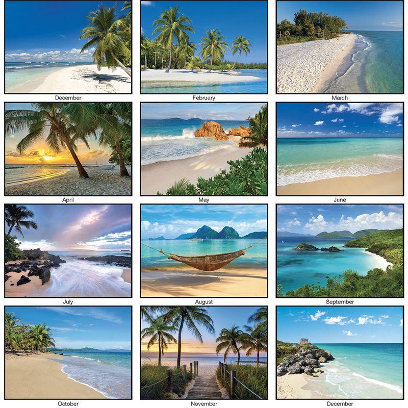 2018 beaches calendar 2018 imprinted calendars 2018 calendar beaches calendar business. Black Bedroom Furniture Sets. Home Design Ideas