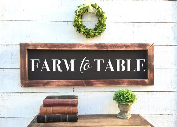 Farm To Table Chalkboard Rustic Home Decor By Brushandtwine Home