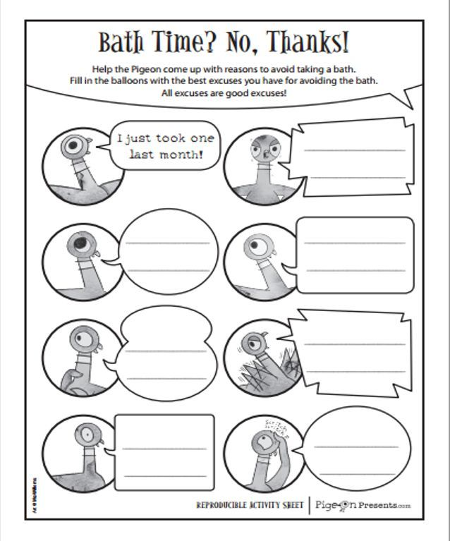 Free Mo Willems Printables Httppigeonpresents