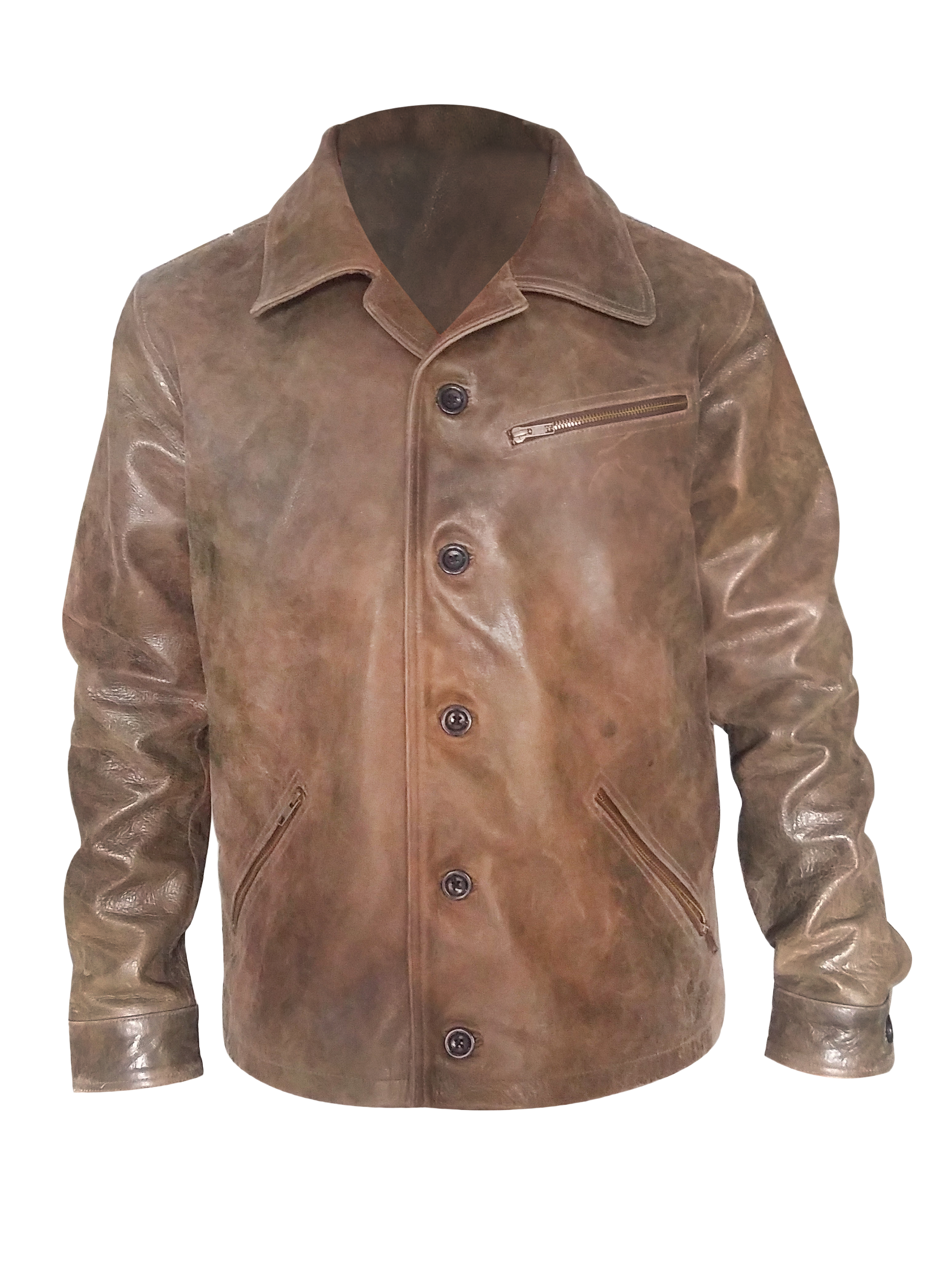 Johnny Depp Mens brown Leather Jacket Brown leather