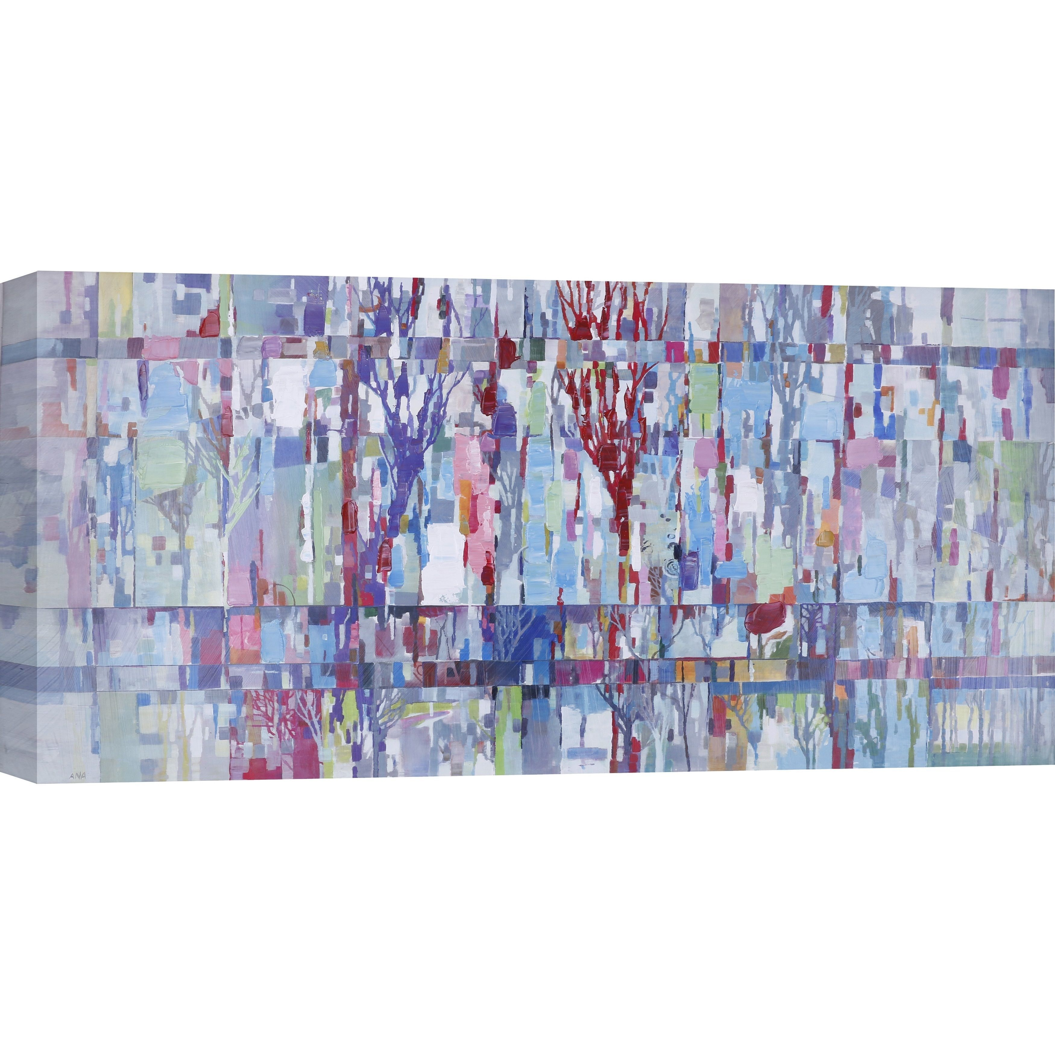 Anastasia C.'s 'Colorful Trees' 30X60 Canvas Wall Art