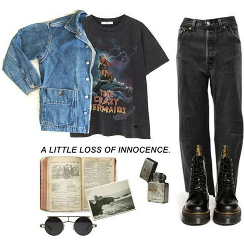 "Grunge Look Book on Instagram: ""#grunge #softgrunge #indie #hipster #urban #goth #gothic #rock #punk #alternative #style #fashion #clothes #lookbook #styling #shoes #docs…"" #grungegoth"