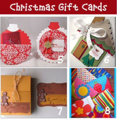 great ideas for making gift card holders - Christmas Gift Card, Tags, And Money Holder Ideas Greeting Cards