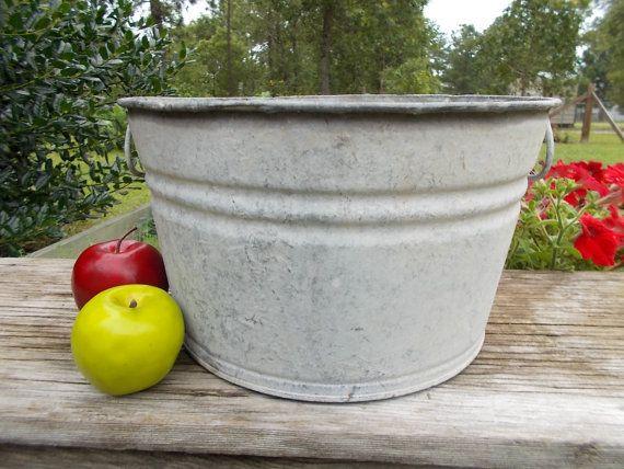 Galvanized Steel Tub Garden Planter Shabby Chic