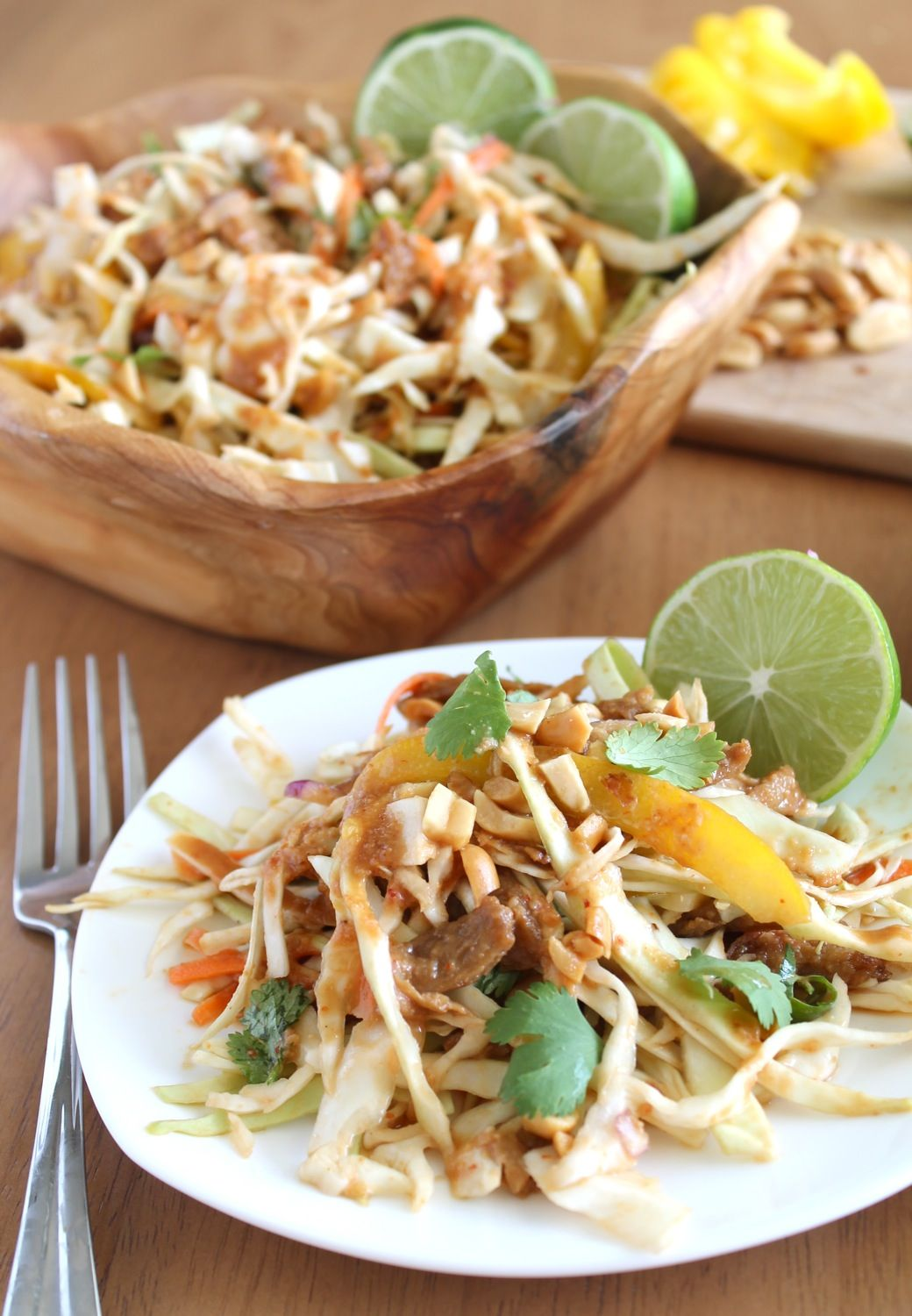 """Thai-Style Cabbage and """"Chicken"""" Salad"""