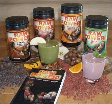 Raw Power® Brand:    * Raw, Organic Food  * Organic and Wildcrafted Superfoods  * High-Quality Supplements  * Books, DVDs, CDs  * Organic Body Care  * Healthy Lifestyle Appliances (Blenders, Juicers, Dehydrators, Ceramic Knives, Kitchen Tools, etc.)
