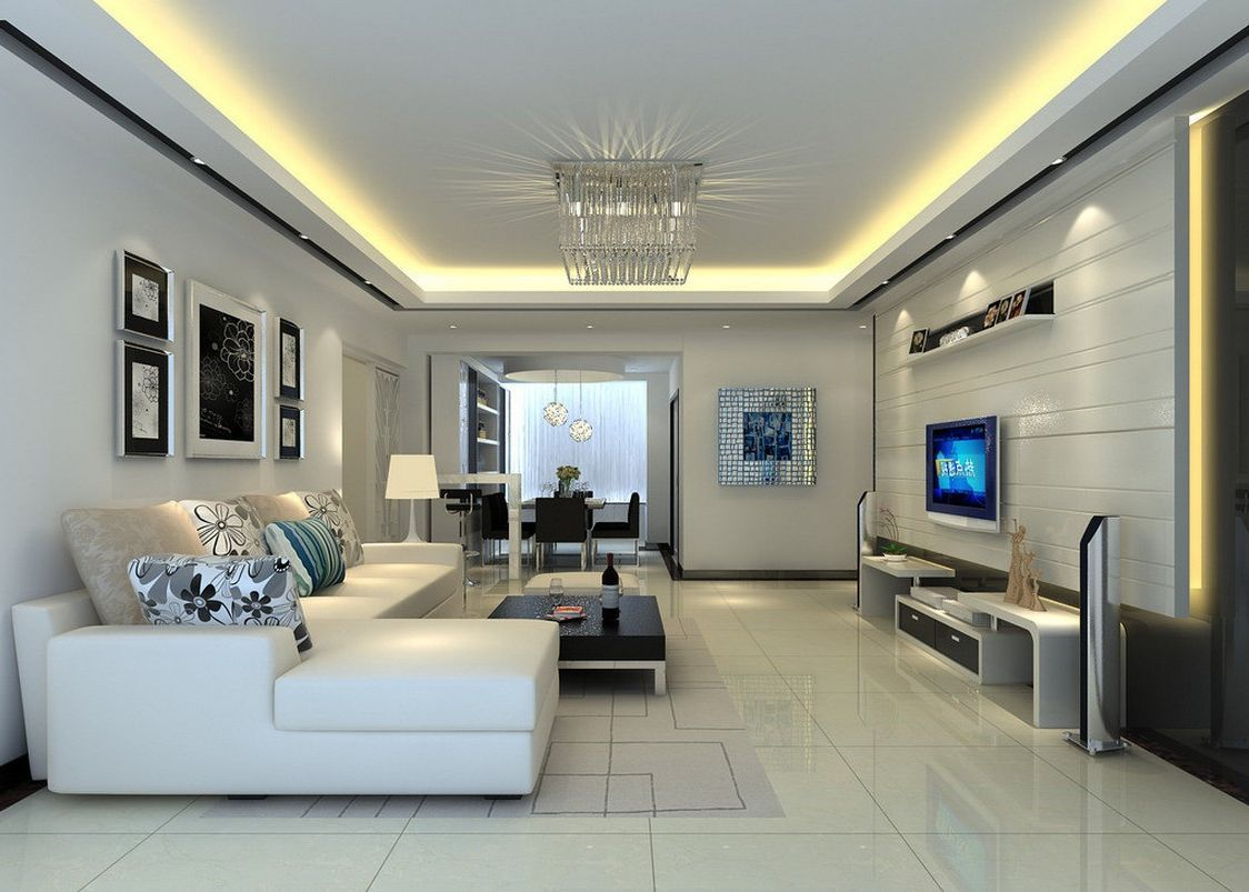 Ceiling designs for your living room modern living rooms for Modern sitting room ideas