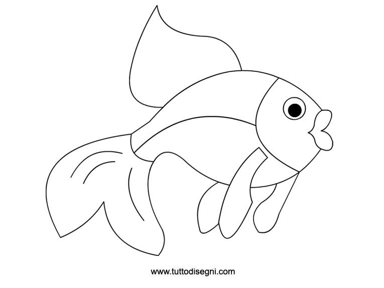 Pesce da colorare per bambini estate for Disegno pesce palla