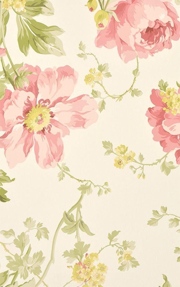 Laura Ashley / Peony Garden Cranberry LA17004. Papel DecorativoPapel PintadoFondo  ...