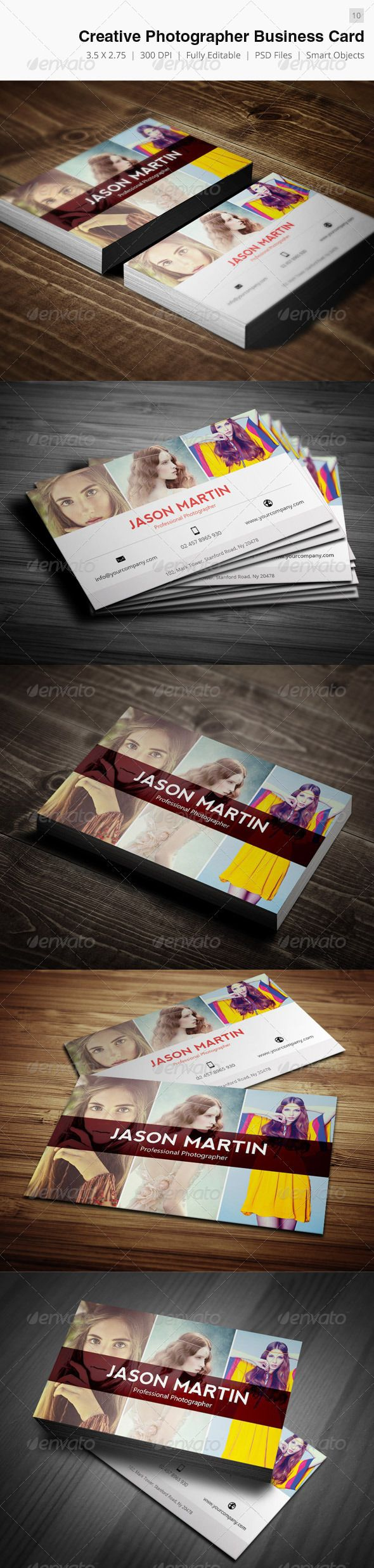 Creative Photographer Business Card - 10 | Photographer business ...