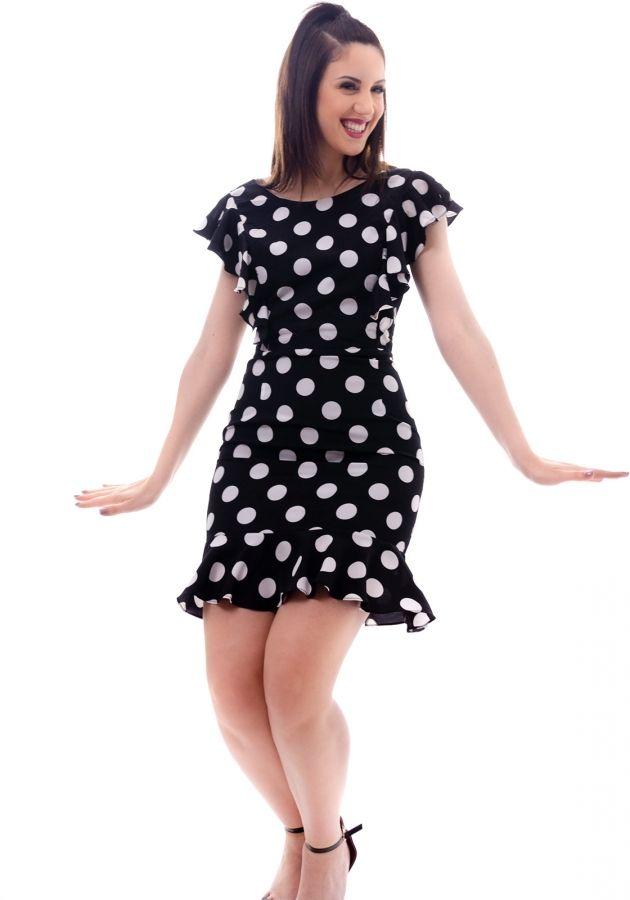208af57ff2b Φόρεμα Miss Pinky mini πουά αμάνικο - Miss Pinky #fashionista #dress #girls  #