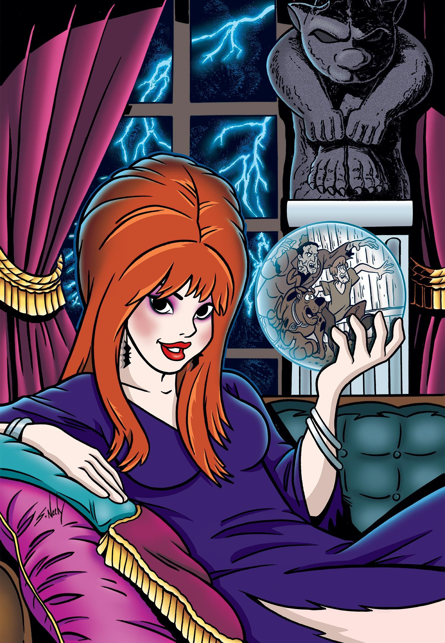 Scooby-Doo With Daphne Cool Signed Color  Tribute Print 8.5x11