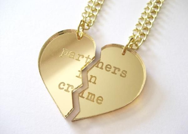 I found best friends necklace partners in crime on Wish check it