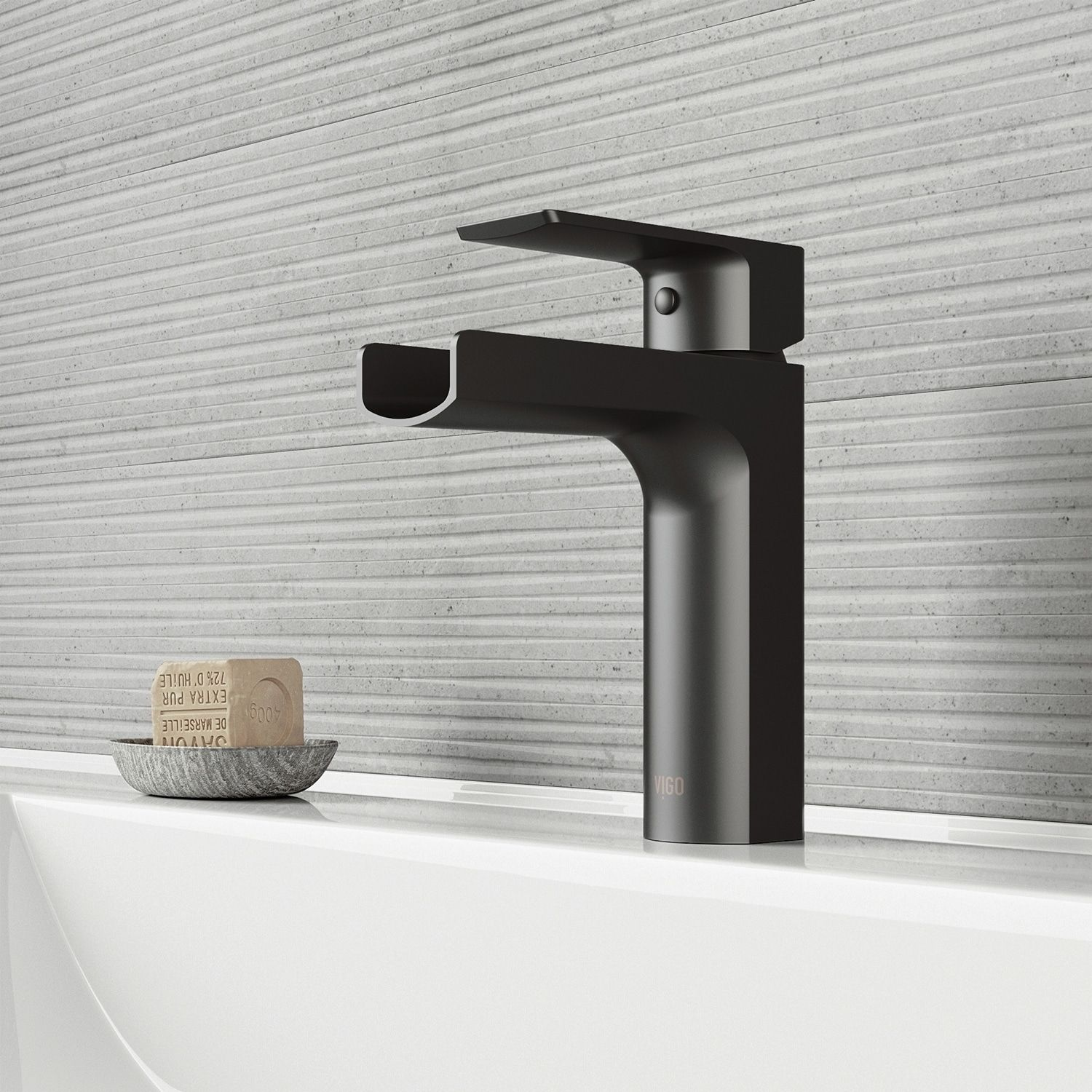 Vigo Ileana Matte Black Single Hole Bathroom Faucet Bathroom