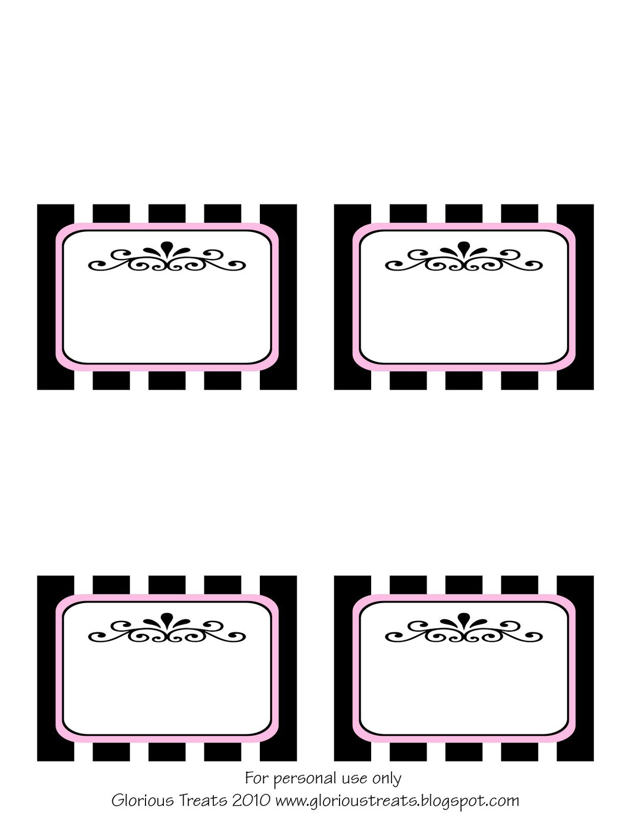 Free Printable French Party Labels