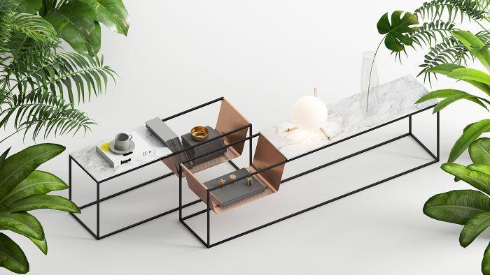 La mesa lateral Perforé está diseñada por Emre Yunus Uzun. Este ...