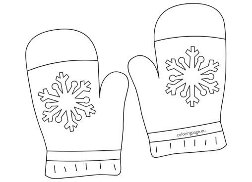 coloring pages winter gloves - photo#3