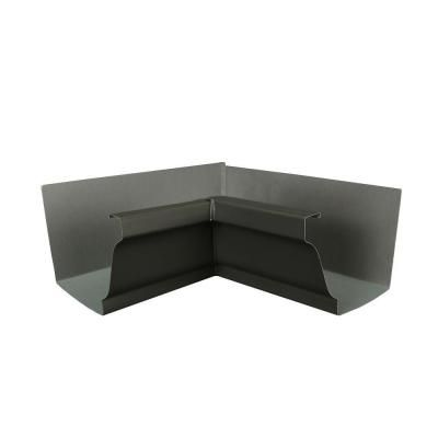 Amerimax Home Products 6 In Tuxedo Gray Aluminum Inside Box Gutter Miter 6inmtg Box Gutter Painting Gutters Home