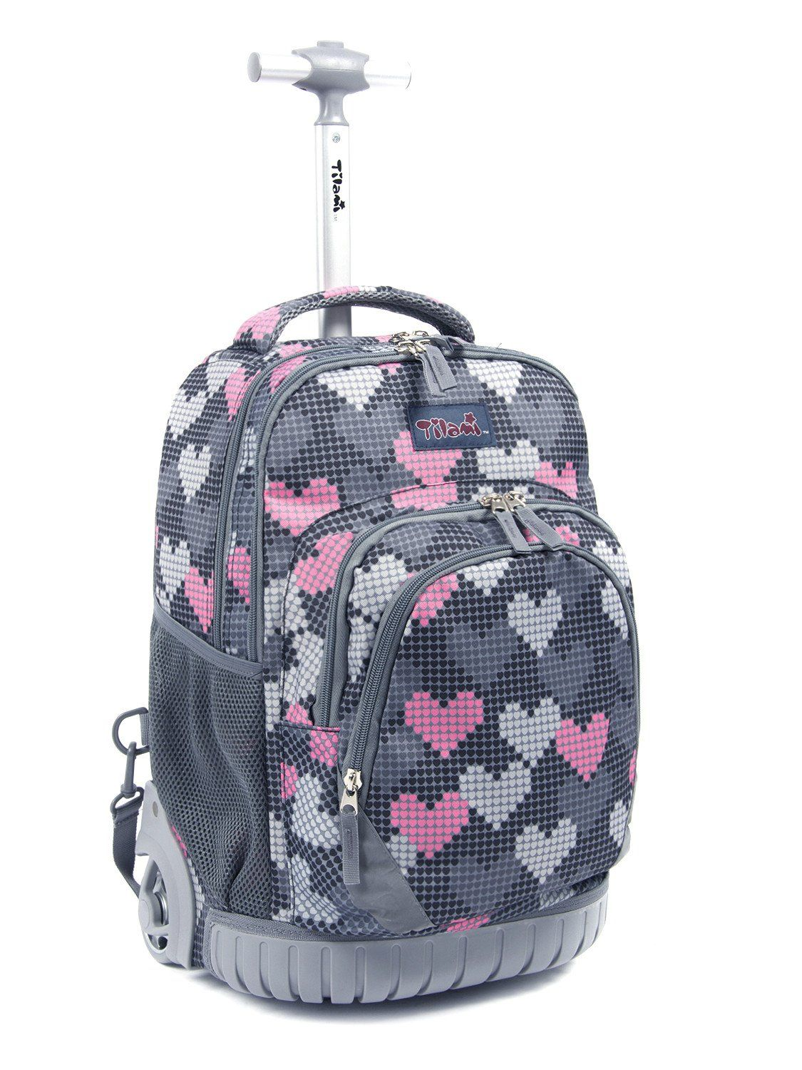 93f622d729 Tilami Rolling Backpack Armor Luggage School Travel Book Laptop 18 Inch  Multifunction Wheeled Backpack Falling Love