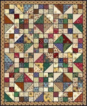This Is A Quilt Pattern Called Buckeye Beauty It Is Great For Using Up Scraps Quilts Scrappy Quilt Patterns Quilt Patterns