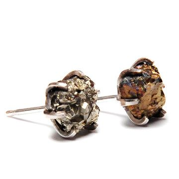 Pyrite Studs, $64, now featured on Fab.