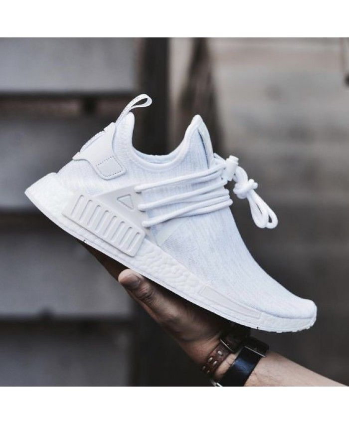 new product 6a2e4 593db Adidas NMD XR1 Custom Triple White Trainers
