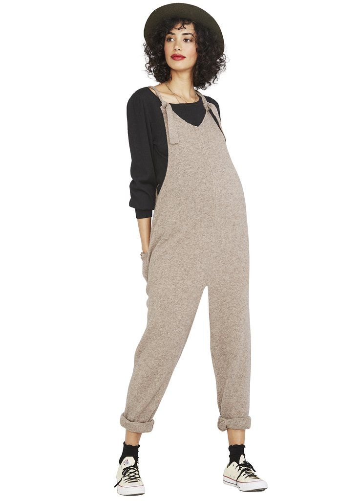 Hatch Chic Maternity Chlothes The Knit Overall Hatch Collection Maternity Jumpsuit Overalls Maternity Chic