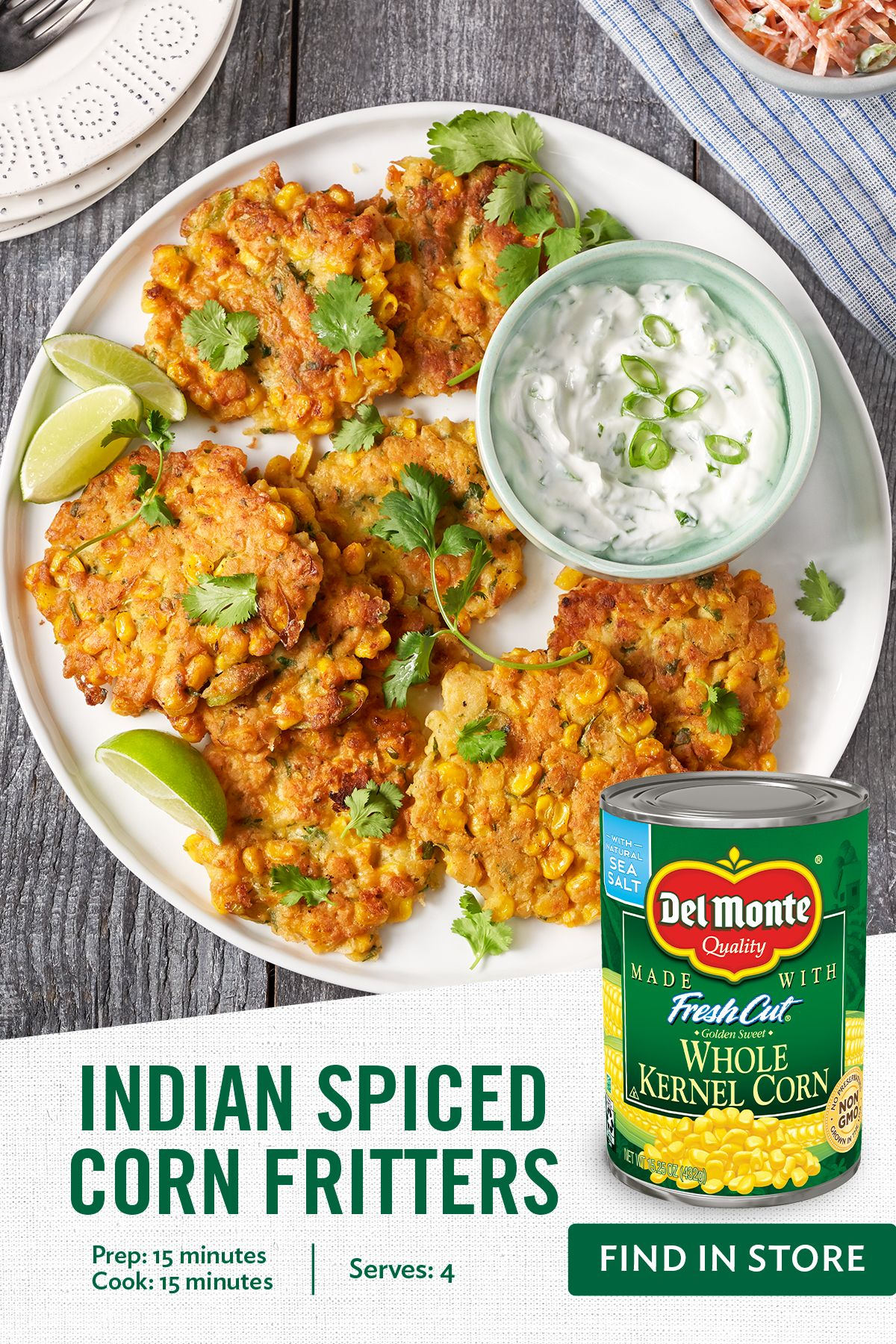 Indian Spiced Corn Fritters